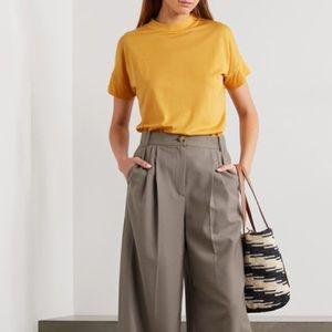 King & Tuckfield Yellow Merino Wool T-Shirt